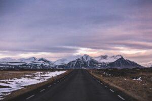 roadway near mountain